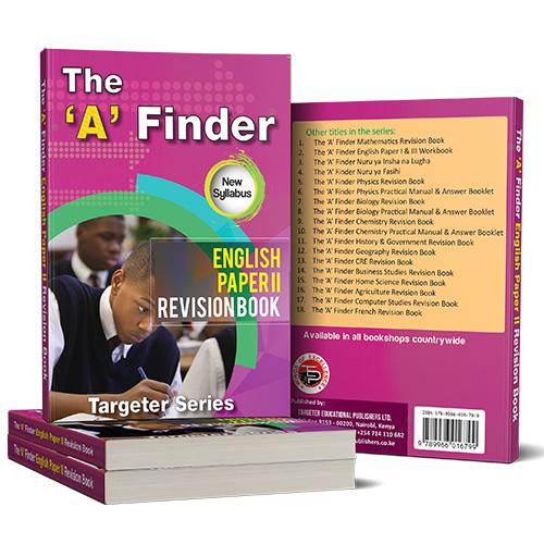 The 'A' Finder Physics Revision BookKsh 600 – Targeter